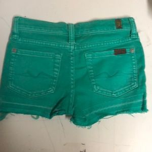 Seven for all mankind distressed girls shorts sz 6